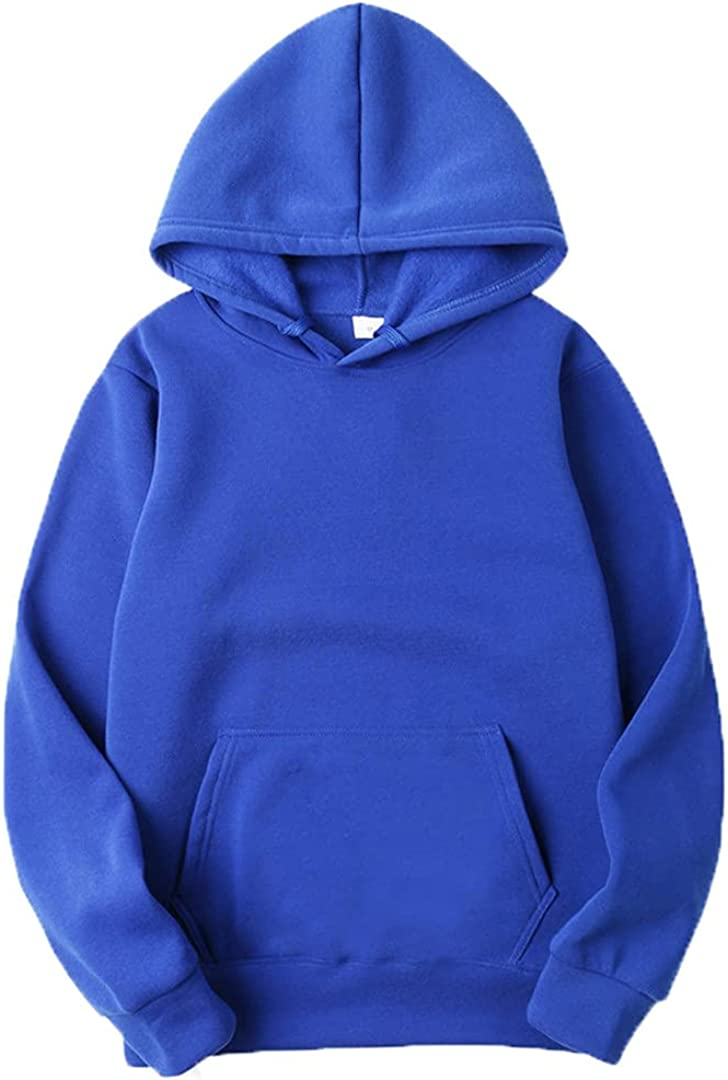 Spring and Autumn Men's and Women's Hooded Pullover Sweater Solid Color Sports Sweater Top