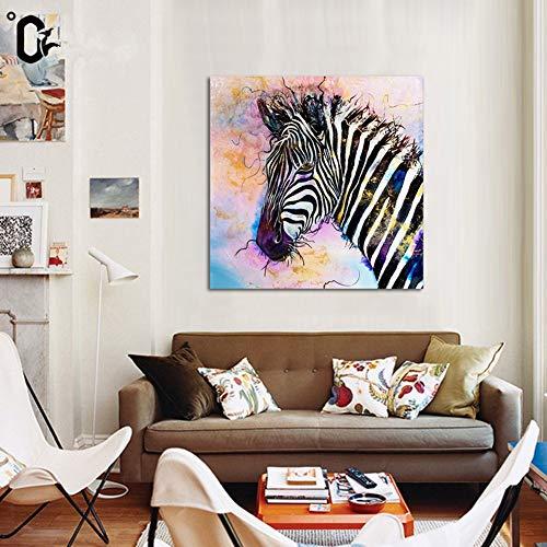 Kunstdruck Kreative Tiere Gemälde Zebra Inkjet Bild Schön Schlafzimmer Wand Dekoration Leinwand Malerei Modernen Familie Kunstwerk,Noframe,80x100cm