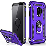 Galaxy S9 Case(Not for Bigger S9 Plus),Military Grade 16ft. Drop Tested Dual Layered Heavy Duty Cover with Magnetic Ring Kickstand Car Mount Holder,Protective Phone Case for Samsung Galaxy S9 Purple