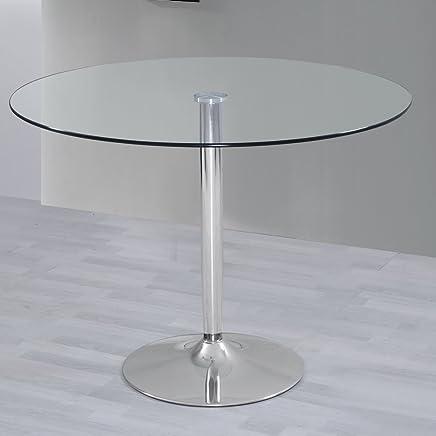 Amazon.es: mesa redonda extensible - Vidrio / Muebles: Hogar y cocina
