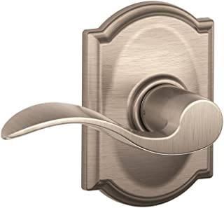 Schlage Lock Company Camelot Trim with Accent Hall and Closet Lever, Satin Nickel (F10 ACC 619 CAM)