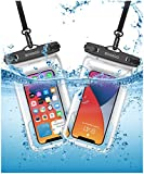 Funda impermeable para teléfono móvil de 7,0 pulgadas (2 unidades), doble sellado, para nadar,...