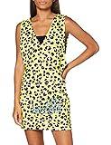 Love Moschino Dress_Allover animalier and Logo Print Vestido, Multicolor (P.Leopard/Yell 0016), 36 (Talla del Fabricante: 40) para Mujer