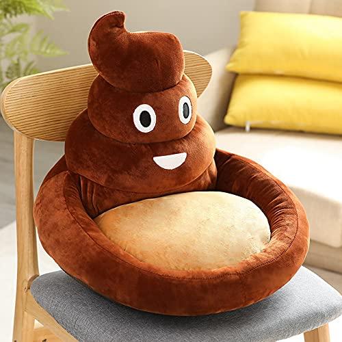 Simpatico cartone animato a forma di divano morbido maiale animale cacca cuscino del sedile pavimento bambino regalo di compleanno 45 cm / 17,7 pollici marrone
