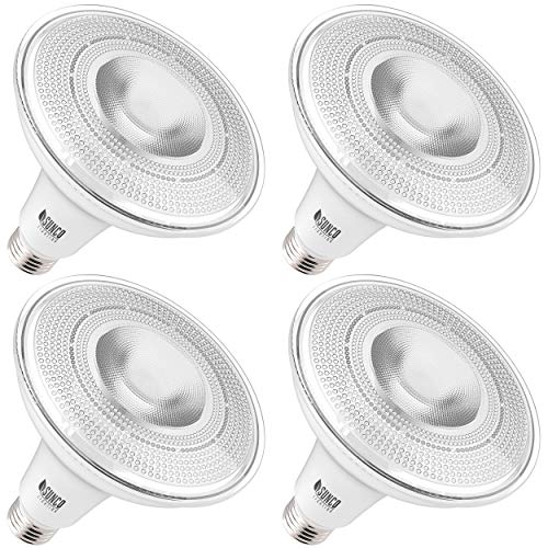 Sunco Lighting 4 Pack PAR38 LED Bulb 13W=100W, 2700K Soft White, 1050 LM, Dimmable, Indoor/Outdoor Spotlight, Waterproof - UL & Energy Star Listed