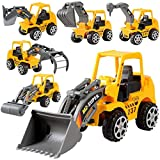 kentew 6PCS Keland 6Pcs Construction Vehicle Truck Push Engineering Toy Cars Children Kid Play Vehicles