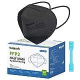 wawech 30 pcs mascherine ffp2 certificate ce mascherine filtrante 5 strati traspirante mascherine monouso sigillate singolarmente