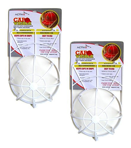 Activefit Apparel 2PK Cap Washer Ball Cap Hat Washer Excellent Hat Cleaner Clean All Your Hats from Your Hat Rack, Cap Holder, Hat Hanger and Cap Organizer. Safe for Dishwasher and Washing Machine.
