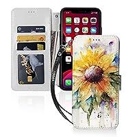 素朴 黄色の ひまわり Iphone 11 Pro ケース 手帳型 カード収納 マグネット カードポケット付き Qi充電対応 スタンド機能 カバー PUレザー 保護ケース 耐衝撃 耐摩擦 アイフォン11 ケース