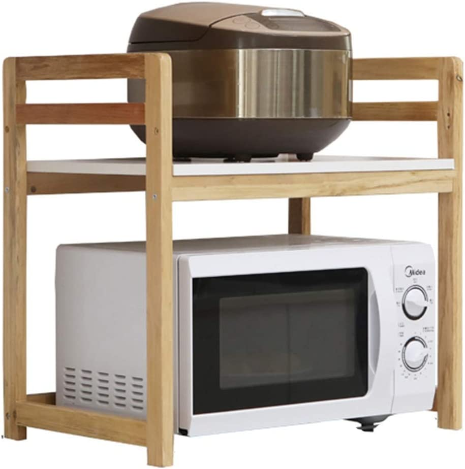 WHEEJE Microwave Oven Shelf Solid Ov 2021 Finally resale start Kitchen Rack Wood