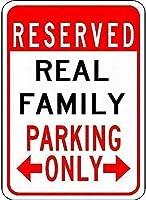 ガレージホームガーデンストアバー、実際の家族用駐車場、警告標識金属の私有財産屋外危険サインティンメタルサインアートヴィンテージプラークキッチンホームバー壁の装飾