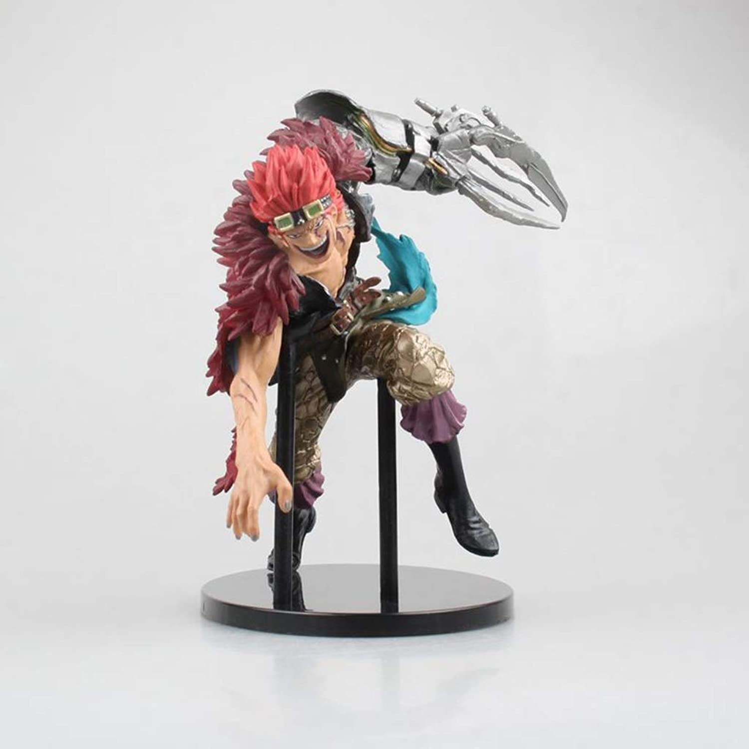 LJBOZ One Piece Anime Statue Eustass Kid Toy Model Group greenical Static PVC Anime Decoration Crafts Collection 5.9in Toy statue