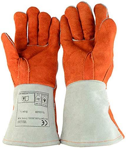 Knoijijuo Bissfeste Handschuhe Anti-Biss-Schutzhandschuhe für Hund, Katze, Reptil, Tier Rindsleder Stichsichere Sicherheit Bisshandschuhe Haustiere