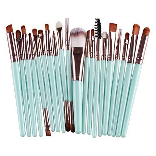 T TOOYFUL Ensemble de 20 Pinceaux Maquillage Professionnel Fond de Teint Blush Poudre Fard à Paupières Cosmétique Brosse - Café vert