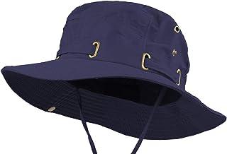 Waterproof Safari Hats | Wide Brimmed Sun Protection Boonie Cap | Explorer Jungle Bush Bucket Hat for Outdoor Hiking Fishing