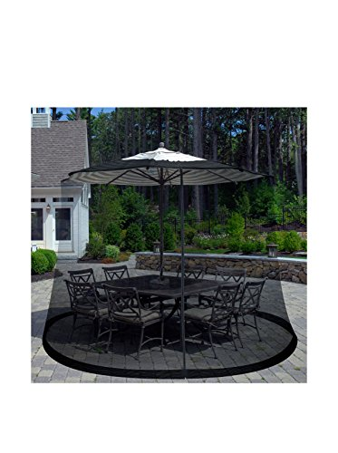Patio Umbrella Cover Mosquito Netting Screen for Patio Table Umbrella, Garden Deck Furniture- Zippered Mesh Enclosure Cover by Pure Garden