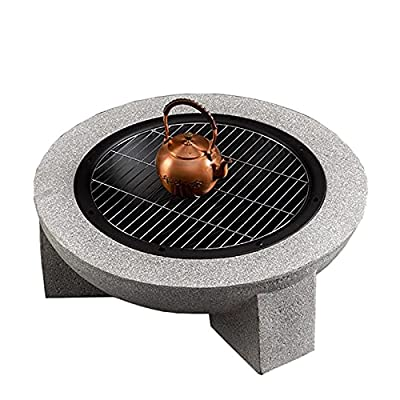 Fire Pit Outdoor fire Pit, 30-inch Round Bonfire Wood Burning Backyard fire Pit, Used for Outdoor Garden Cooking and Barbecue by Lijack