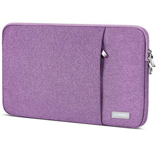 Portable Monitor Case 15.6 Inch,Losong Protective Carrying Sleeve for Most 15.6 in Portable Monitors,Water Resistant Portable Computer Laptop Display Bag with Accessory Pocket,Size-15.3'x9.8' Purple