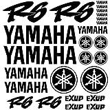 kit pegatinas Vinilo para YAMAHA YZF R6 EXUP vinilo de corte con papel transportador, tamaño de lamina grande varios colores disponibles (AZUL)