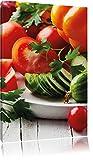Obst Gurke Gemüse Salat Essen Tomate, Format: 60x40 auf