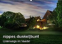 nippes dunkelbunt - Unterwegs im Veedel (Wandkalender 2022 DIN A2 quer): Nippes bei Nacht (Monatskalender, 14 Seiten )