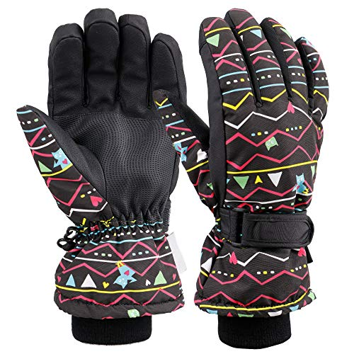 Galexia Zero Womens Touchscreen Snow Ski Gloves Black M
