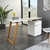 <span class='highlight'>Cherry</span> <span class='highlight'>Tree</span> <span class='highlight'>Furniture</span> Soren White/Oak Desk with Cupboard