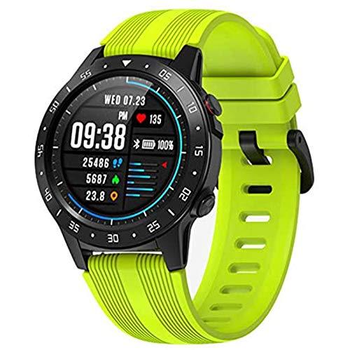 WEINANA Reloj Inteligente para Correr Tarjeta Deportiva Llamada GPS Posicionamiento Presión Altitud Brújula IP67 Reloj Inteligente De Frecuencia Cardíaca Impermeable(Color:Verde)
