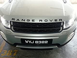 Matte Black - RANGE ROVER - Badge Decal Emblem Car Sticker *** USA SELLER ***