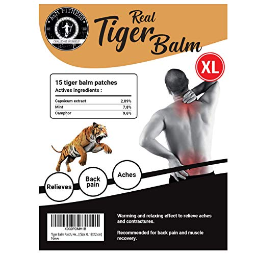 Tiger Balm Patch, Back Pain Relief Ultra Strenght with 9.6% of Camphor [Packs of 15 Patches], Perfect for Muscle Pain Relief Hot Compress Anti inflammatory | parches para Dolores musculares