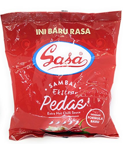 SASA サンバルekstra pedas(エキストラホットチリソース)9グラム(1パック)@ 24個の小袋
