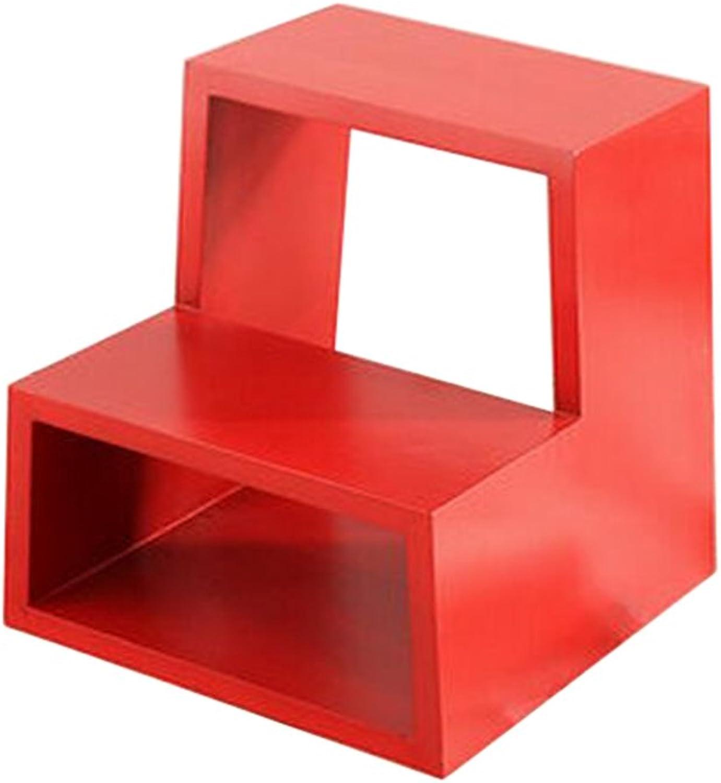 mejor calidad DLDL Taburete de Almacenamiento Almacenamiento Almacenamiento casero de la Madera sólida (40  38  44cm) (Color   rojo)  tienda de venta