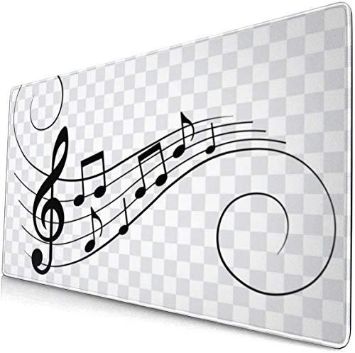 Schwarz und Weiß Tilde Muster Muster XXL XL große Gaming-Mauspad Matte lange erweiterte Mousepad Schreibtisch Pad rutschfeste Gummi Mäuse Pads genähte Kanten (29,5 x 15,7 x 0,12 Zoll)