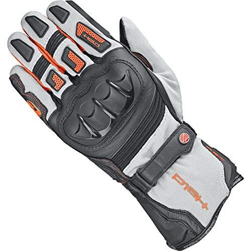 Held Motorradhandschuhe kurz Motorrad Handschuh Sambia 2in1 Gore-Tex® Handschuh grau/orange 12, Herren, Enduro/Reiseenduro, Ganzjährig, Leder/Textil