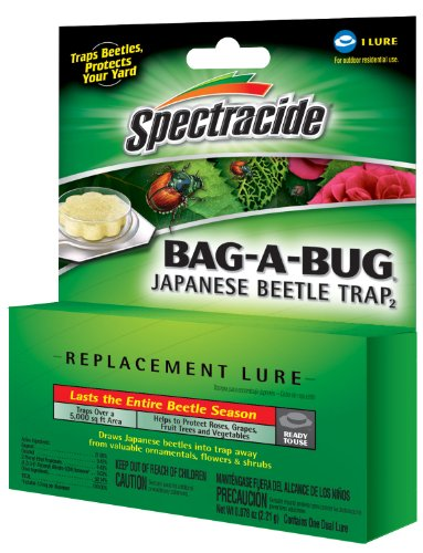 Spectracide 16905-1 Bag-A-Bug Japanese Beetle Trap Replacement Lure, 1-Count, 12-Pack, 12 Packs