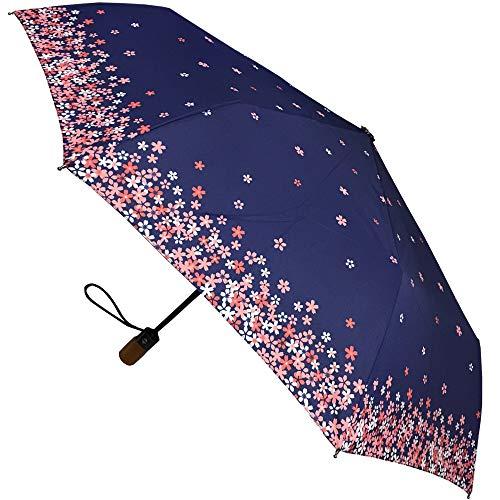London Fog Luggage Auto Open-Close Umbrella, Leopard, One Size