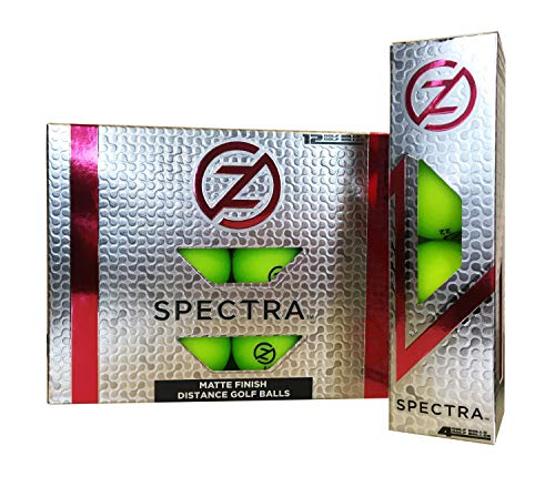 Zero Friction Spectra Golf Balls, Neon Lime