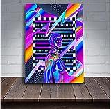 Motty Decor Lienzo impreso Synthwave Abstracta para el Hogar Sala de Estar Dormitorio Decoración 40x60cm