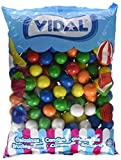 Vidal Golosinas - Bolsa de Chicle Grageado de 25/28mm | Surtido de deliciosos sabores: limón, naranja y fresa | Bolsa 2 kg