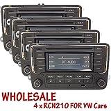 Großhandel 4-STK Autoradio RCN210 CD Player USB AUX Bluetooth SD für VW Golf TOURAN TIGUAN Jetta Passat Polo