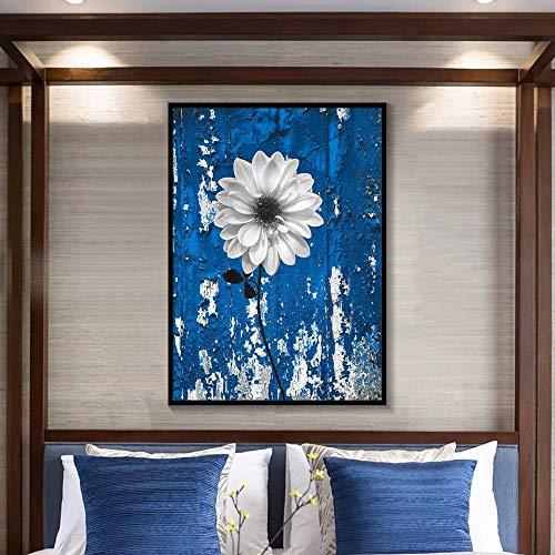 tzxdbh Scandinavisch rood grijs zwart geel blauw vlinder regen muurkunst foto poster en afdrukken roze wooncultuur romantische slaapkamer bloemenbeeld Without frame 40X50cm 11
