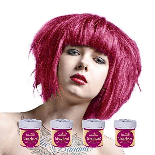 La Riche Directions Semi-permanente haarverf, kleurstof, intensief, x4-pak universele maat Carnation pink.