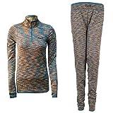无 运动套装女卫衣卫裤外套长裤跑步休闲运动服两件套 Brown