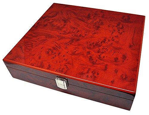 Uhrenhuette Aufbewahrungsbox Ambonia Uhrenbox für 10 Uhren 8-fach lackiert 10220