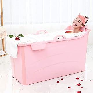 家庭用シャワーのための大人と子供のグレートポータブルプール浴槽グランキューブ独立したバスルームを折りたたみ (色 : ピンク, Size : 120x52x68cm)