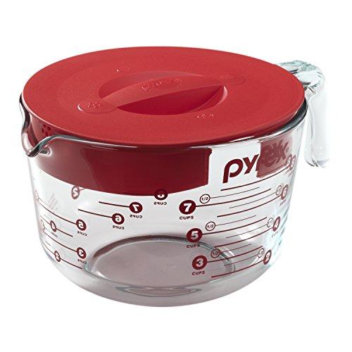 Pyrex Prepware Glas-Messbecher mit Deckel für 8 Tassen