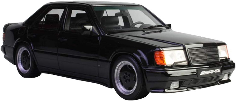 GAOQUN-TOY 1 18 Mercedes 300E 5.6 AMG W124 Resin Car Model (color   BLACK, Size   25cm12cm8cm)