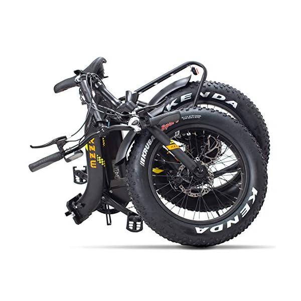 51YFjnOSCEL. SS600  - FJNS Mountainbike 48V 13Ah,klappbares elektrisches Fahrrad mit austauschbarem Akku und LCD-Display,faltbares elektrisches Fahrrad 20 Zoll 4,0,breiterer Reifen, Strand,E-Bike 25-40 km/h - 400 W