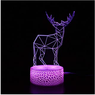 男の子のための3Dイリュージョンランプ、携帯用装飾的なランプ、タッチコントロール、誕生日の贈り物を変更します。-12_7色