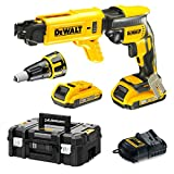 DEWALT - 18V XR 2Ah Li-Ion Brushless Drywall Screwdriver - DCF620D2K-QW - Cordless Electric Screwdriver in Case with 2 Batteries and Charger - No-Load Speed ​​0-4400rpm - 435W